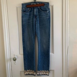 Brock Collection Embellished Straight Leg Jeans